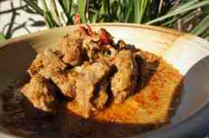 Homemade lamb rendang, gluten free