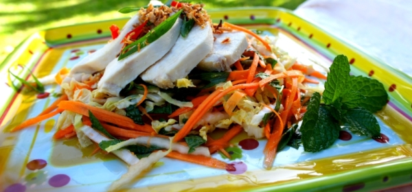 White cut chicken with Vietnamese slaw & the Chinese New Year's Eve feast