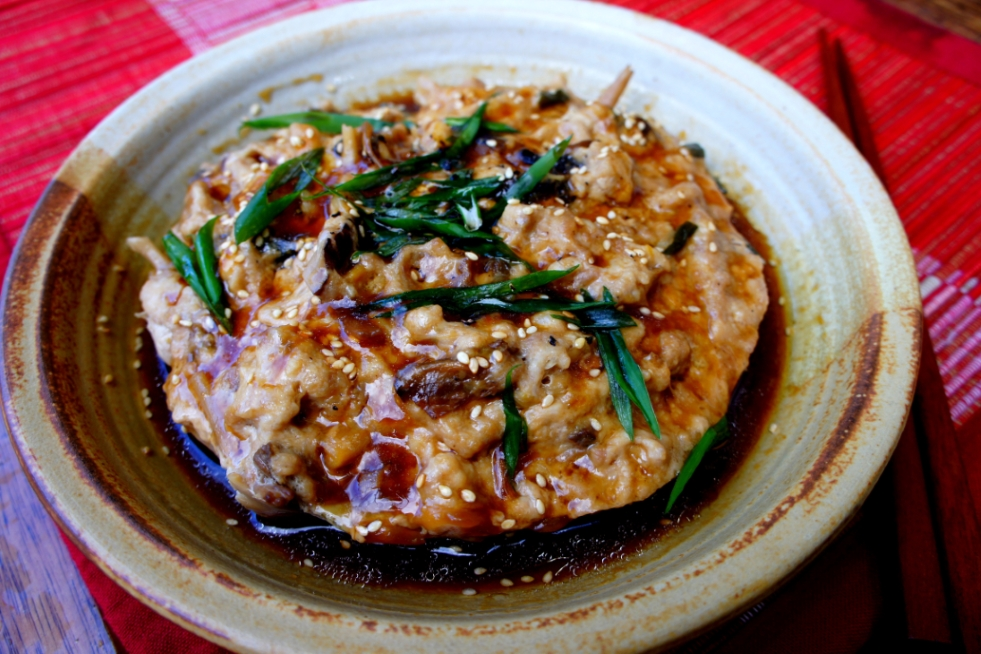 Chinese traditional steamed pork 'cake' 蒸肉餅 (gluten free)