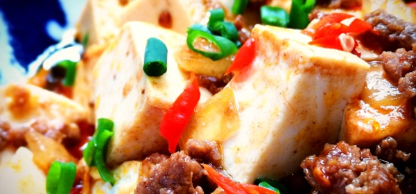 Stir fry tofu with fermented chili bean paste and oyster sauce