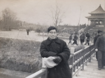 A young traveler, somewhere in the Nortern China