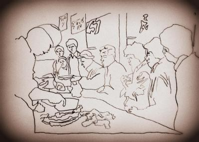 A Chinese butcher at the market