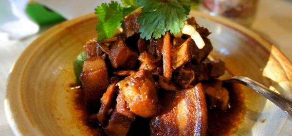 Soy braised pork belly with bamboo shoots (gluten free)