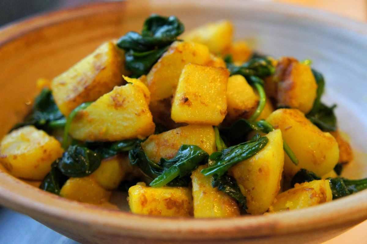 Potato spanach turmeric