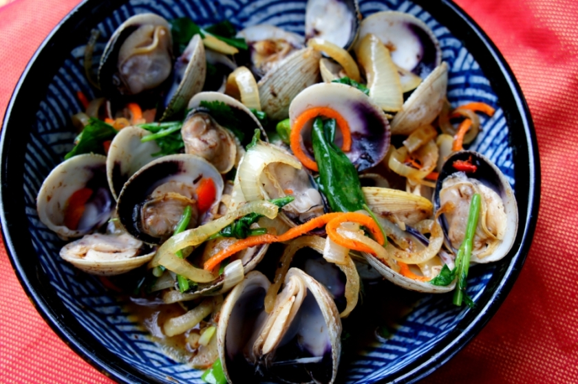 Clams with XO sauce
