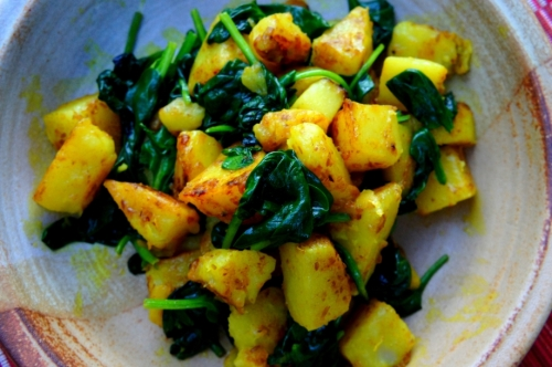 Spiced potato and spinach