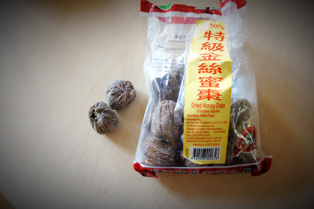 Chinese golden thread amber dried honey dates