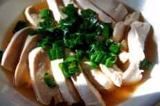 Poached chicken with chinese wine