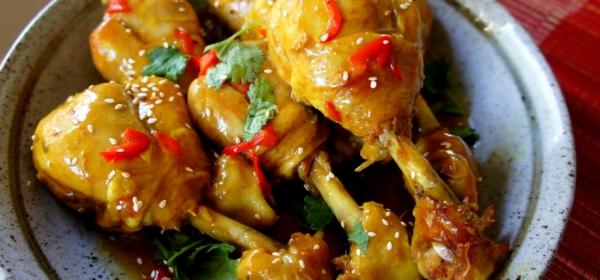 Asian spiced chicken drumsticks (FODMAP friendly, gluten free)