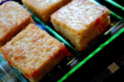 Chicken & quinoa slices with coconut milk  (low FODMAP, gluten free)