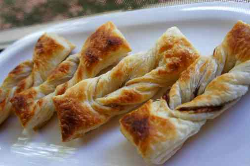 Vegemite twists with puff pastry