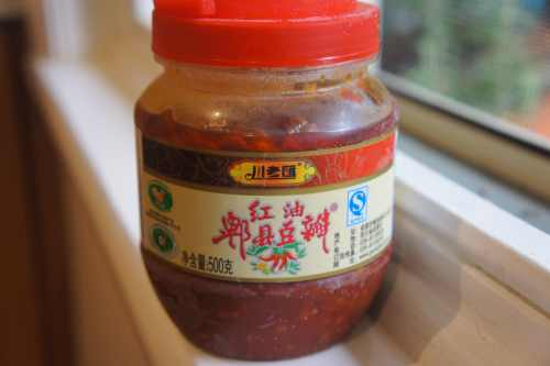 Chili soy bean paste 豆瓣醬 from the 'pi xian' region