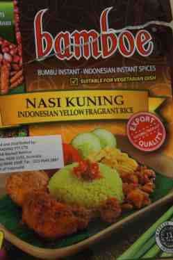 Indonesian Nasi Kuning paste (yellow fragrant rice)