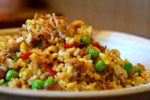 Golden fried rice inspired by nasi kuning