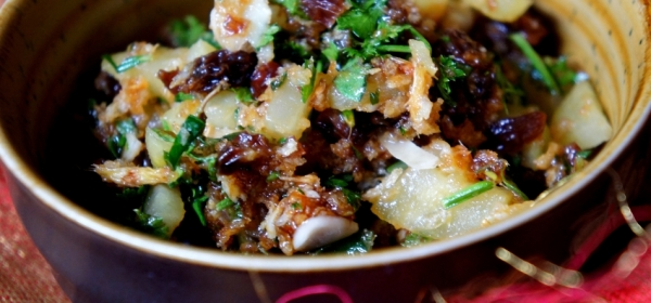 Asian inspired Christmas stuffing