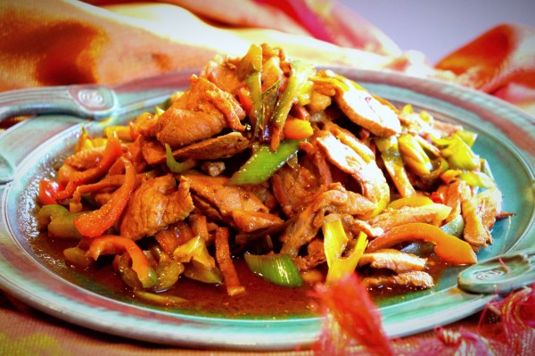 Twice-cooked pork with Sichuan soybean paste and leek