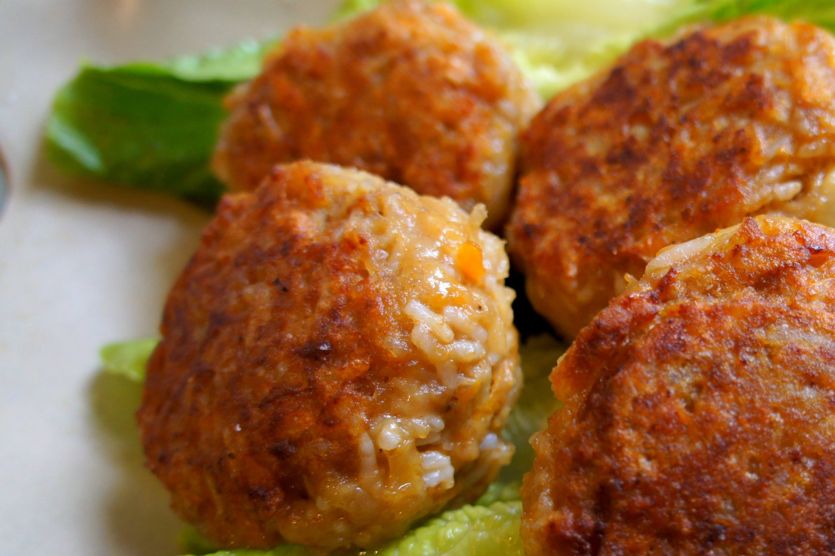 Beef rissoles with potato, rice and cheese, fodmap friendly, gluten free, IBS