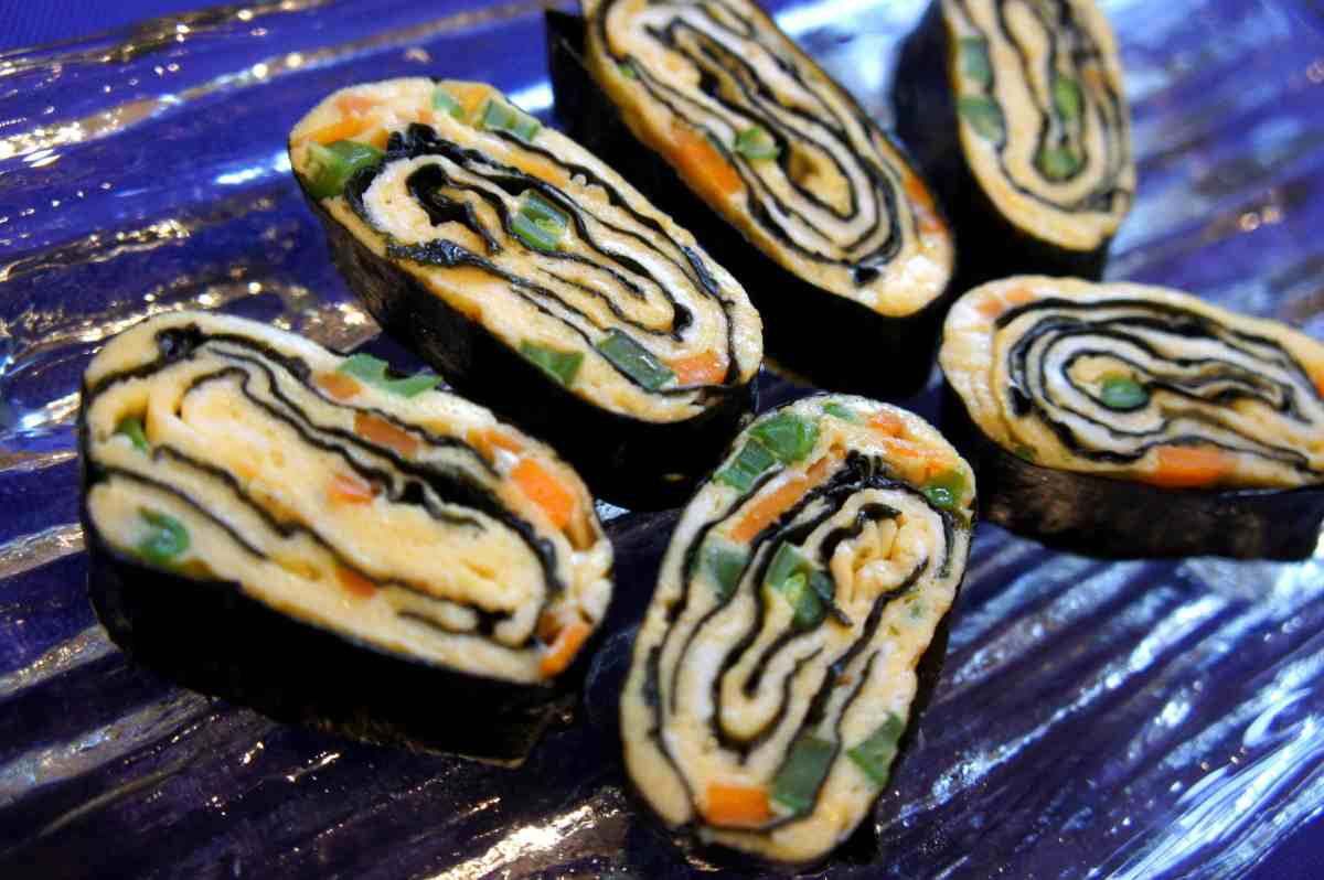 Egg and seaweed rolls, low fodmap, gluten free
