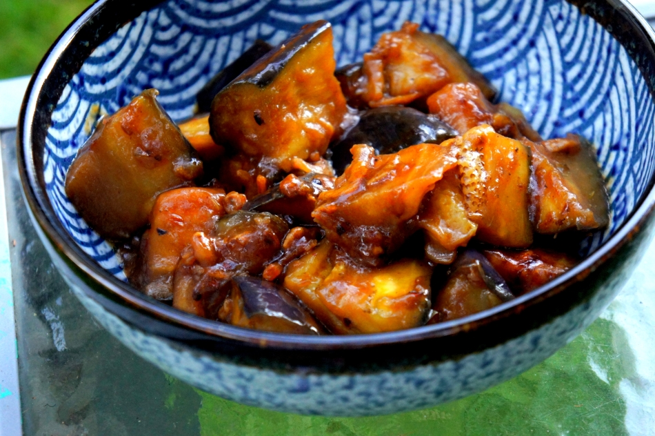 Sambal eggplant with dried shrimp