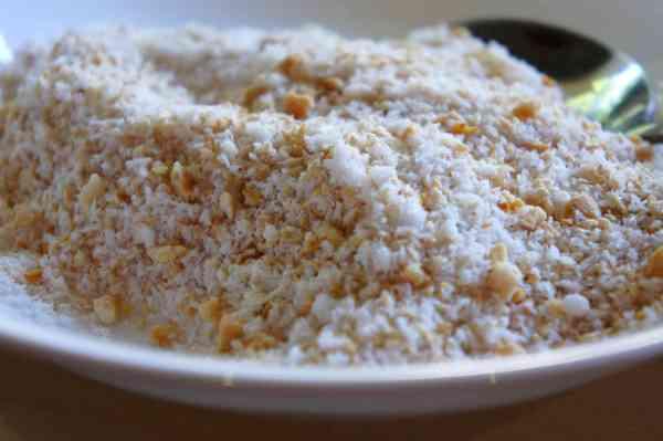 Sesame, peanut, coconut and sugar coating
