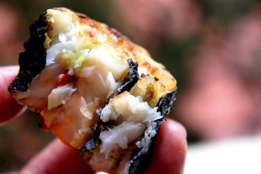 Pan fried whiting nori roll