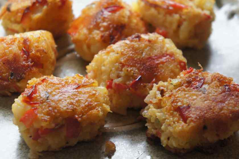 Quinoa potato hash brown, low FODMAP, gluten free