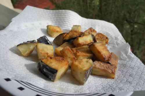 Eggplant, pan fried, FODMAP diet