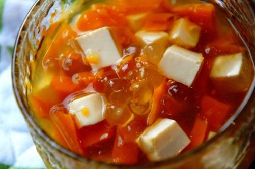 Tofu, pumpkin, ginger & tapioca dessert (low FODMAP, gluten free, vegan)