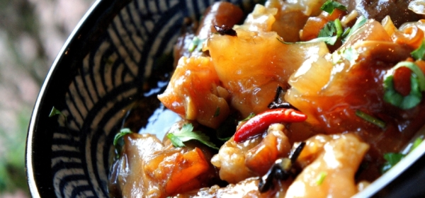Braised beef tendon with Asian spices (low FODMAP, gluten free)