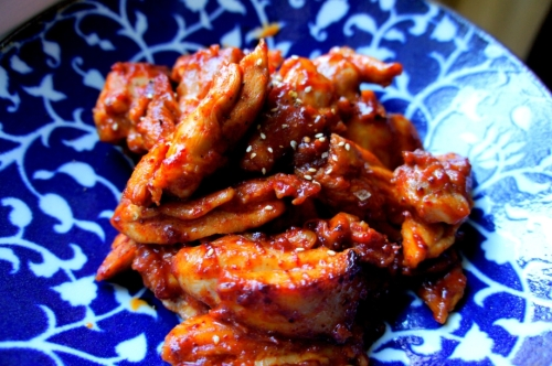 Simple Korean chili chicken