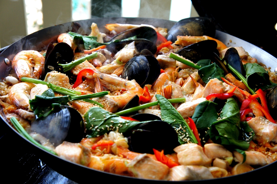 Asian inspired Paella with miso & wasabi (low FODMAP, gluten free)