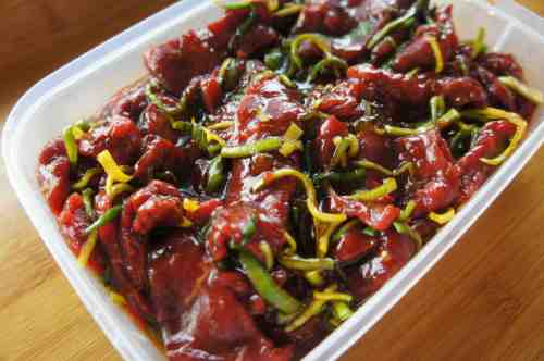 Asian BBQ beef marinate