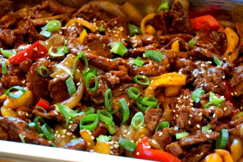 Grilled beef, Asian style