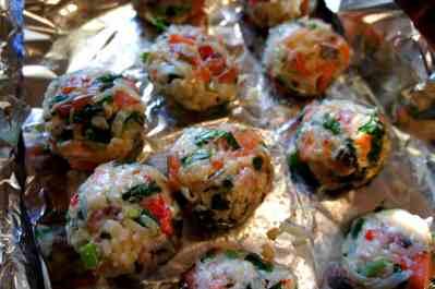 To be pan fried, fish balls