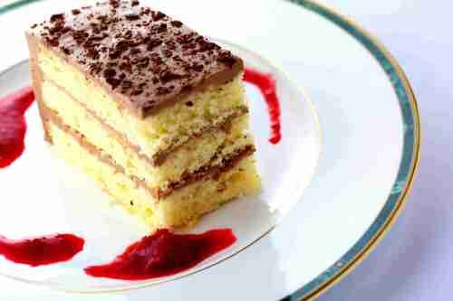 Nutella cheese cake, layered