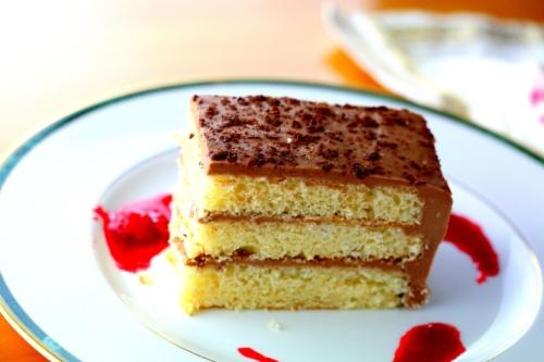 Nutella cheese cake, layered