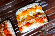 Vegetable sushi terrine, low FODMAP, vegan, gluten free