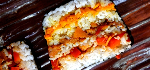 Sushi terrine with vegetables (low FODMAP, vegan, gluten free)