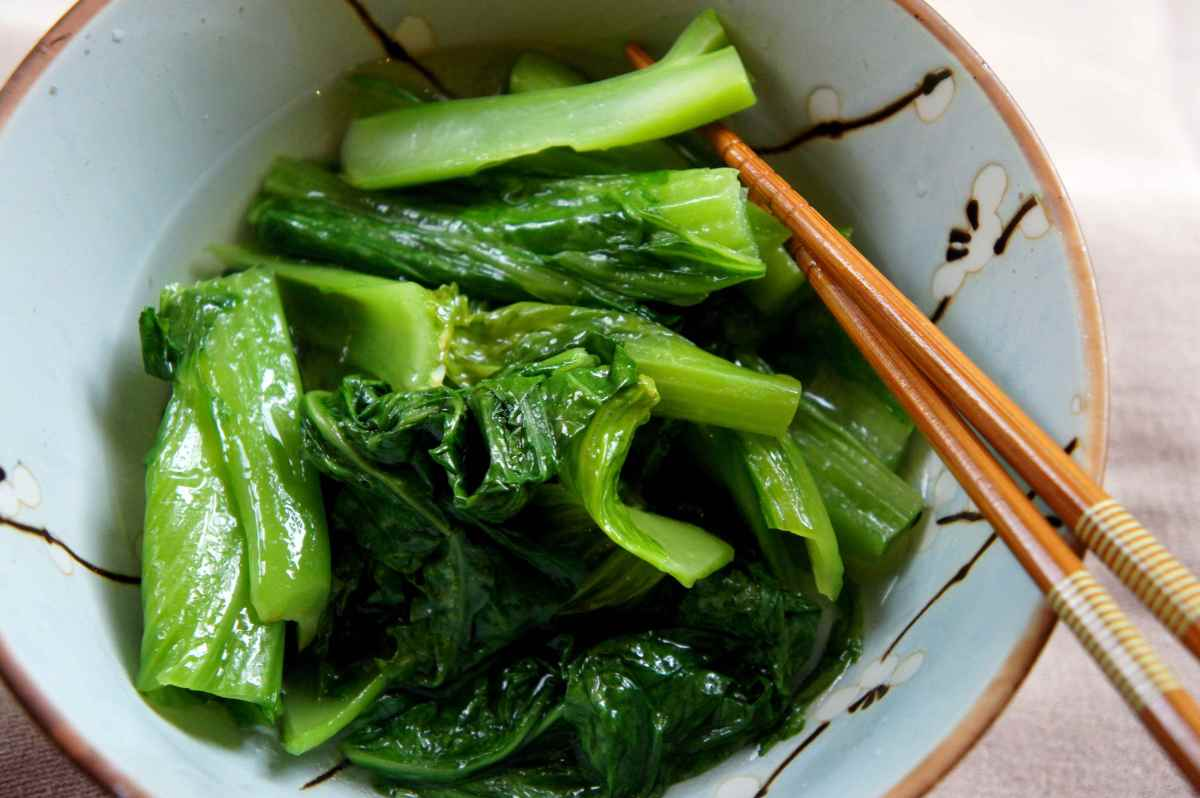 Chinese mustard greens, gluten free, vegan, gai choi, GuangDong GuangYa Middle School, gluten free, vegan