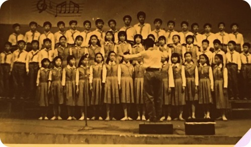 My junior year at GuangYa Middle School - class singing competition
