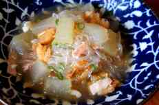 Winter melon broth with dried shrimps and bacon