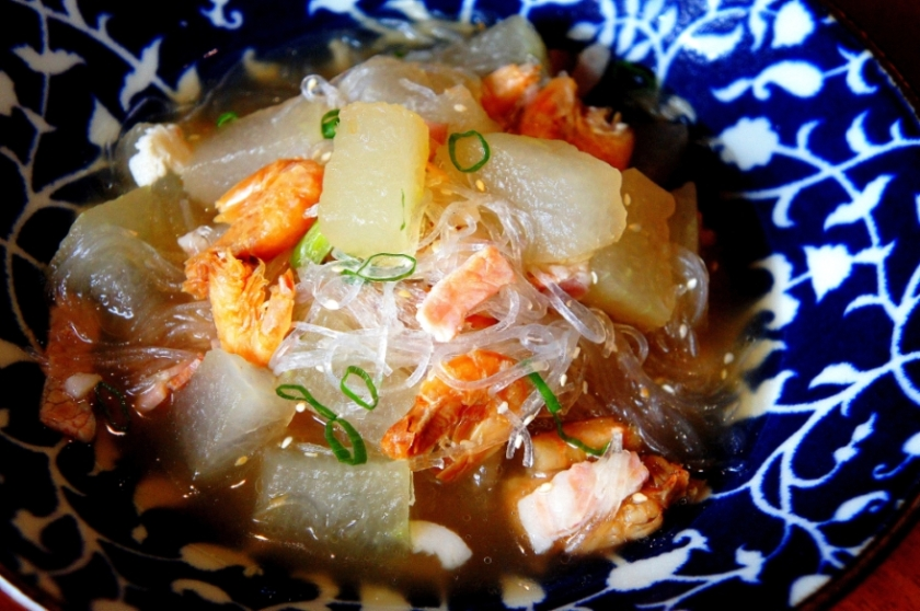 Winter melon broth with dried shrimps and memories of a factory in the town of 'YingDe' (英德)