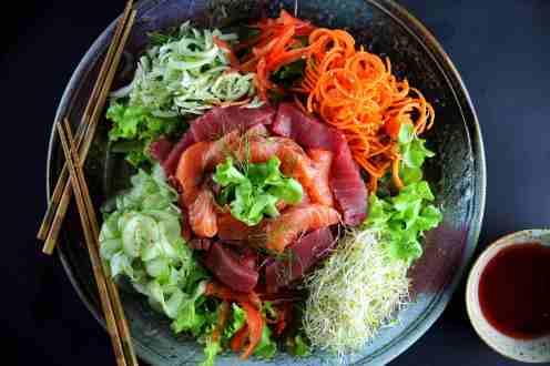 Prosperity Toss / yu sang / yee sang /lo sang (low FODMAP, gluten free)