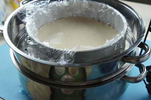 Steaming sweet cake