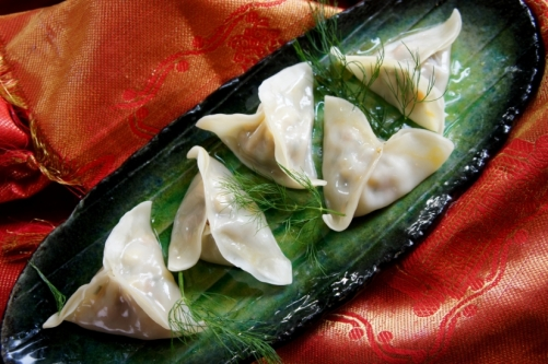 Steamed pork and fennel dumplings 豬肉韭菜餃子