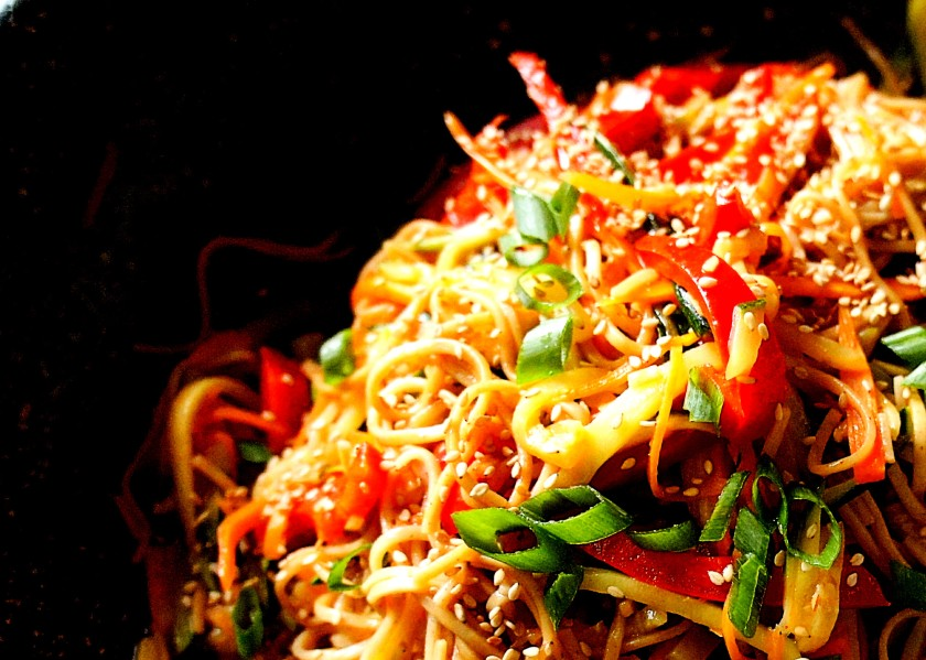 SOBA NOODLES WITH VEGETABLES 'LAO MIEN' 撈麵 (FODMAP FRIENDLY)