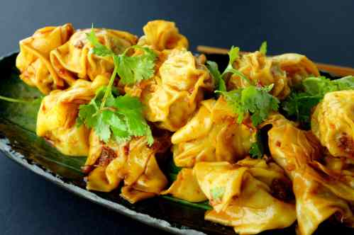 Wonton salad with XO sauce
