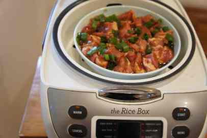 Ready to steam with a rice cooker