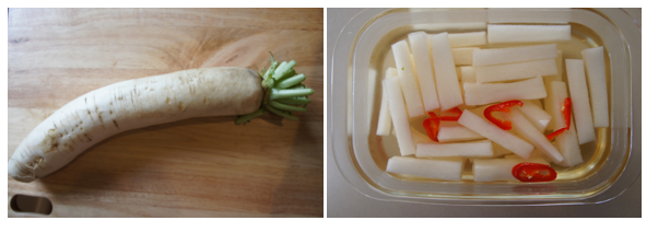 Pickled Asian white radish