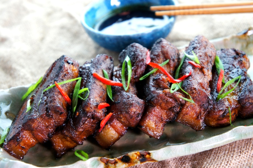 Home style pork spare ribs with soy sauce, wine and vinegar (FODMAP friendly, gluten free option)